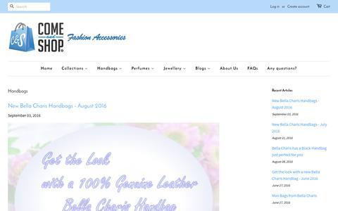 Screenshot of Blog comeandshop.com.au - Handbags – Come & Shop® - captured Aug. 4, 2017