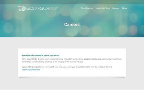 Screenshot of Jobs Page guzman.com - GUZMAN  & COMPANY - captured Nov. 17, 2016