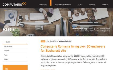 Screenshot of Blog computaris.com - Telco tech blog | Computaris - captured May 20, 2017