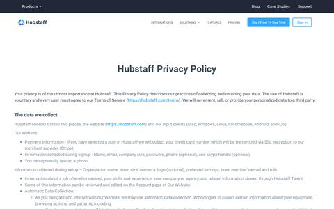 Hubstaff Privacy Policy