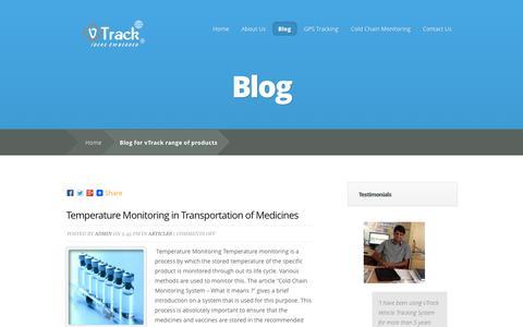 Screenshot of Blog vtrack.in - Blog for vTrack range of products - captured Nov. 1, 2014