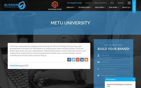Screenshot of Developers Page elsner.com - Metu University - captured Nov. 14, 2016