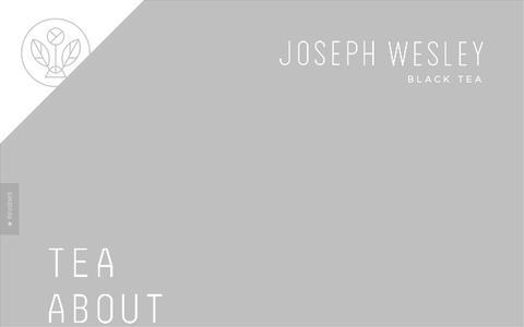 Screenshot of Home Page josephwesleytea.com - Joseph Wesley Black Tea | Joseph Wesley Black Tea - captured Oct. 6, 2014