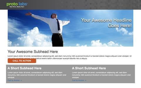 Screenshot of Landing Page protolabs.com - ion marketing experience platform - captured Aug. 9, 2016