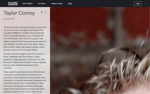 Screenshot of Team Page changeheroes.com - Change Heroes - captured Oct. 31, 2014