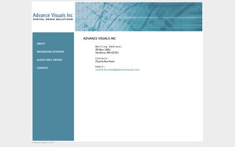 Screenshot of Contact Page advancevisuals.com - Advance Visuals Inc - captured Oct. 4, 2014