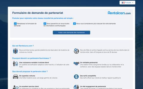 Screenshot of Signup Page rentalcars.com - Rentalcars.com - Supplier Extranet - Sign Up - Index - captured July 12, 2017