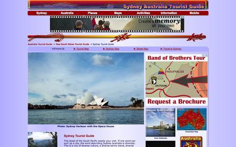 Screenshot of Home Page sydney-australia.biz - Sydney Tourist Guide - captured Sept. 22, 2014