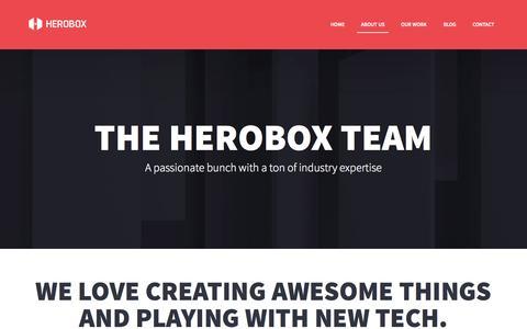 Screenshot of About Page heroboxstudios.com - About us | Herobox Studios - captured Aug. 2, 2015
