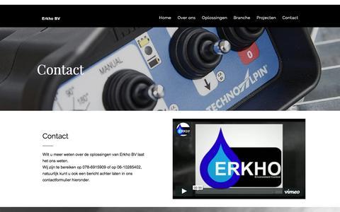 Screenshot of Contact Page erkho.nl - Contact met Erkho BV - captured Dec. 10, 2015