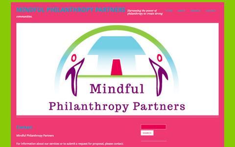 Screenshot of Contact Page mindfulphilanthropy.com - Contact | Mindful Philanthropy Partners - captured Oct. 6, 2014