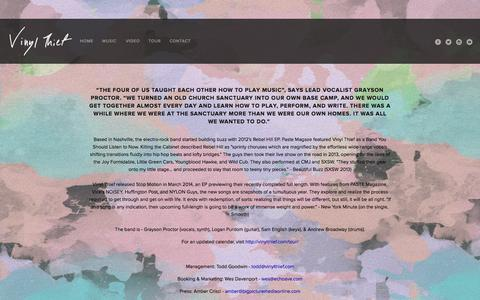 Screenshot of About Page vinylthief.com - About — VINYL THIEF - captured Sept. 30, 2014
