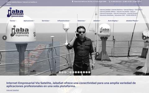 Screenshot of Home Page internet-empresarial.com - [ JabaSat ] Internet Empresarial Satelital Internet Dedicado Empresas - captured Jan. 25, 2017