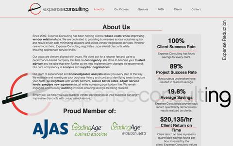 Screenshot of About Page expenseconsulting.com - Expense Consulting | Cost Reduction Consultants | Contingency-Based - captured Nov. 12, 2016