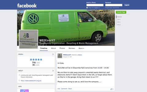 Screenshot of Facebook Page facebook.com - WEEEsortIT - Paignton, United Kingdom - Community Organization, Recycling & Waste Management | Facebook - captured Oct. 26, 2014