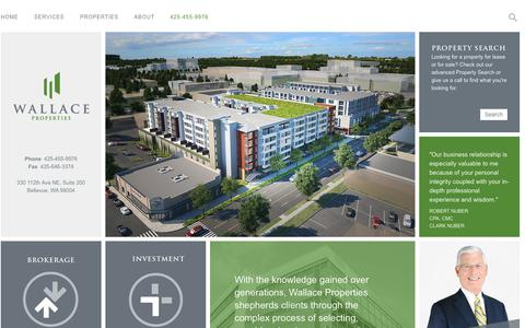 Screenshot of Home Page wallaceproperties.com - Wallace Properties, Commercial Real Estate - Western Washington - captured Sept. 30, 2014