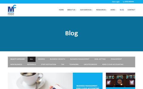 Screenshot of Blog meadesandco.co.uk - Blog - Meades & Company - captured Nov. 28, 2016