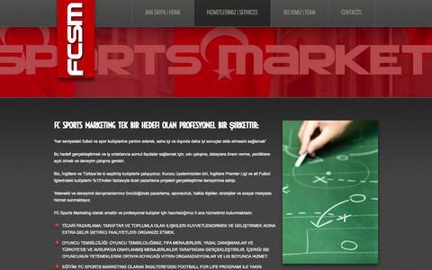 Screenshot of Services Page fcsportsmarketing.com - Hizmetlerimiz   Services     FC Sports Marketing - captured Sept. 30, 2014