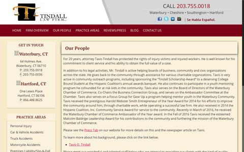 Screenshot of Team Page tindall-lawfirm.com - OUR PEOPLE | tindall-lawfirm.com - captured Oct. 20, 2018