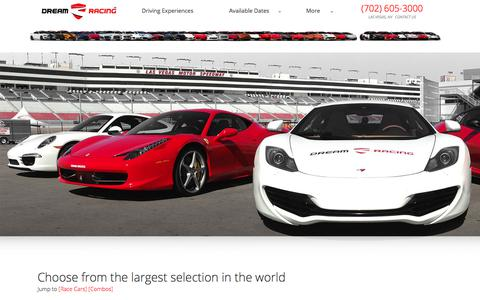 Screenshot of Pricing Page dreamracing.com - The Experiences -– Dream Racing - captured Aug. 8, 2018