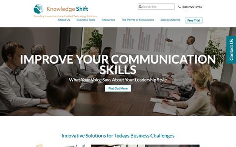 Screenshot of Trial Page knowledgeshift.net captured Sept. 20, 2018