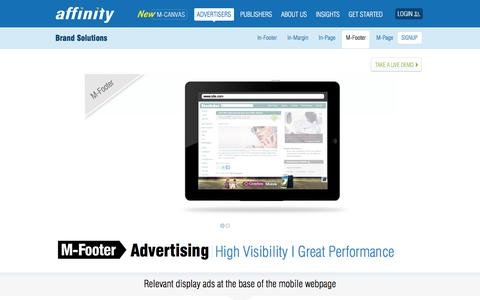 Screenshot of Team Page affinity.com - M-Footer Brand Advertising - Premium Visibility. High Performance   Affinity - captured Nov. 12, 2019