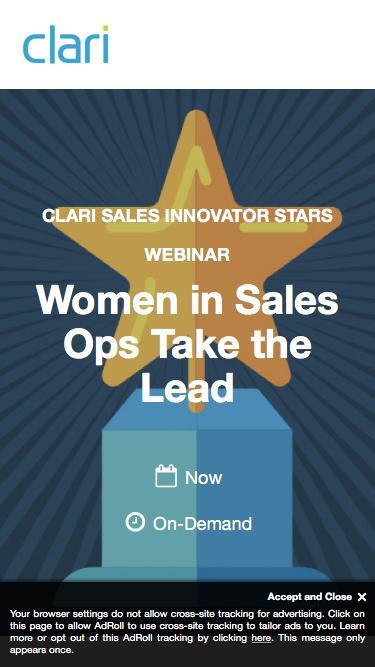 Webinar: Women in Sales Ops Take the Lead
