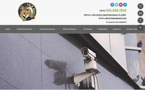 Screenshot of Contact Page csipalmbeach.com - Security Alarm Installation | Palm Beach, FL | CSI Palm Beach, LLC. - captured Nov. 4, 2018