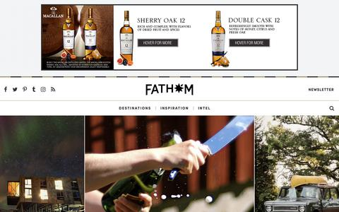 Screenshot of Home Page fathomaway.com - Fathom - Travel Guides, Stories, Tips, and Reviews - captured Sept. 26, 2017