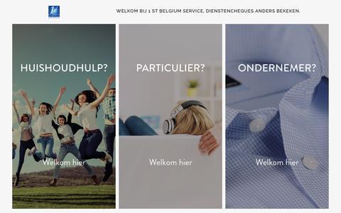 Screenshot of Home Page 1stbelgiumservice.be - 1stbelgiumservice | Huishoudhulp met dienstencheques - captured Jan. 10, 2016