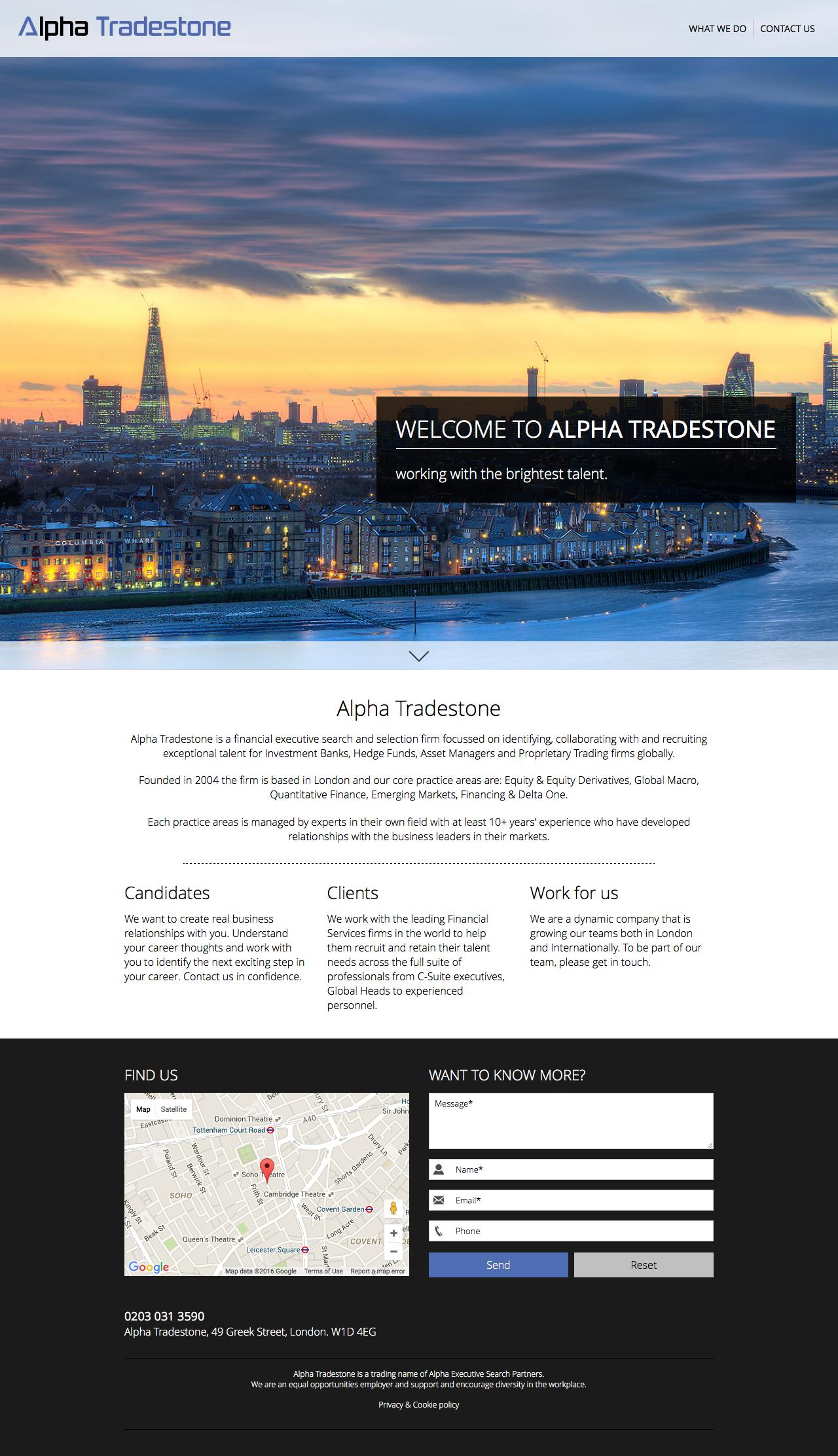 Web Design Example   A page on alpha-tradestone com   Crayon