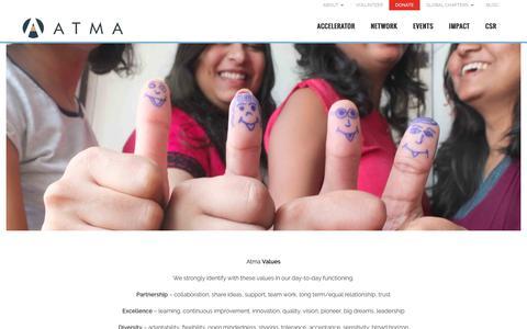 Screenshot of Jobs Page atma.org.in - Atma - Explore career opportunities in NGO Mumbai, India - captured Nov. 21, 2016