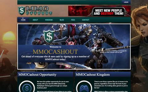 Screenshot of Home Page mmocashout.com - MMO Cashout | We Make Earning Fun with the Most Generous Company on the PLANET - captured Sept. 19, 2014