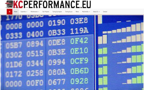 Screenshot of Home Page kcperformance.eu - KCPerformance, high end tuning for all brands! - KCPerformance - captured Sept. 30, 2014