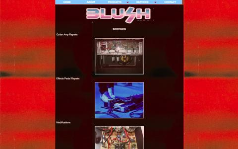Screenshot of Services Page blushaudio.co.uk - Amp Repairs | Leeds | Blush Audio | Software | Electronics - captured Sept. 30, 2014