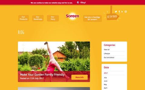 Screenshot of Blog soreen.com - Blog Archive - Soreen - captured Nov. 7, 2017