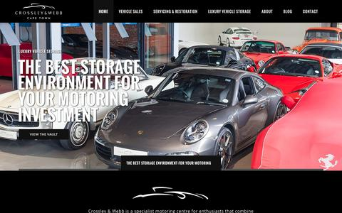 Screenshot of Home Page crossley-webb.com - Crossley & Webb: The Motoring Investment Specialists - captured Nov. 12, 2016