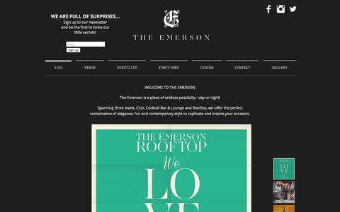 Screenshot of Home Page theemerson.com.au - emerson - captured Jan. 11, 2016