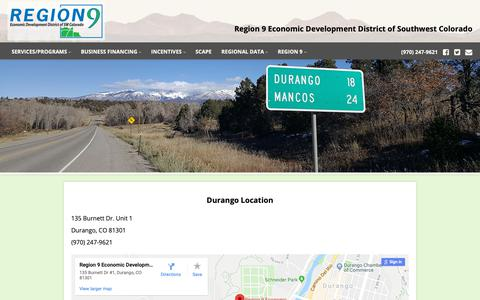 Screenshot of Locations Page scan.org - SW Colorado Economic Development - Region 9 Economic Development District - captured Oct. 18, 2018