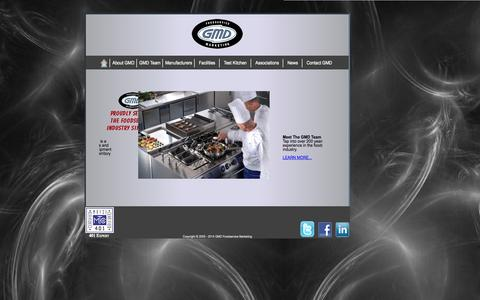 Screenshot of Home Page g-m-d.com - GMD Foodservice Marketing - captured Oct. 1, 2014