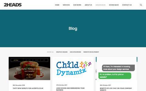 Screenshot of Blog 2headsdesign.co.uk - Blog - 2Heads Design & Marketing - captured May 29, 2019