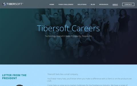 Screenshot of Jobs Page tibersoft.com - Careers | Tibersoft - captured Oct. 6, 2018