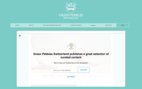 Screenshot of Jobs Page green-pebbles.com - Luxury & Fashion Jobs - captured Sept. 30, 2016