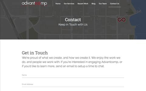 Screenshot of Contact Page advantcomp.com - Advantcomp Consulting - Contact Us - captured Oct. 7, 2017