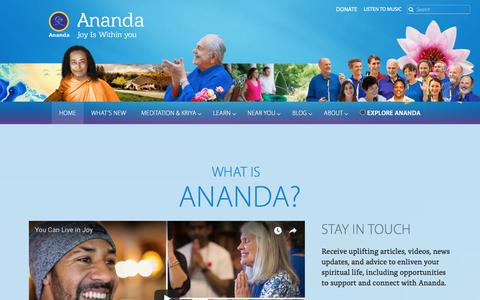 Screenshot of Home Page ananda.org - Ananda: A Worldwide Movement to Help You Find Joy Within Yourself - captured Sept. 22, 2018