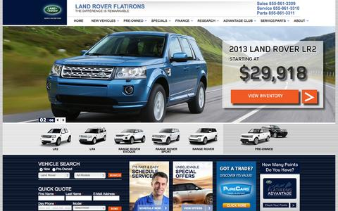 Screenshot of Home Page landroverflatirons.com - Land Rover Denver, Boulder, Broomfield, Superior, Range Rover Dealership Colorado - Land Rover Flatirons - captured Sept. 29, 2014