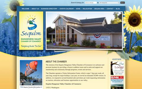 Screenshot of About Page sequimchamber.com - About The Chamber | Sequim Washington Chamber Of Commerce - captured March 11, 2016