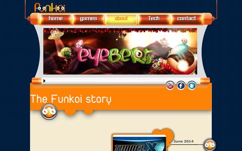 Screenshot of About Page funkoi.com - About | Funkoi Game Studio - captured Oct. 6, 2014
