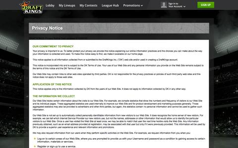 Privacy Policy - DraftKings