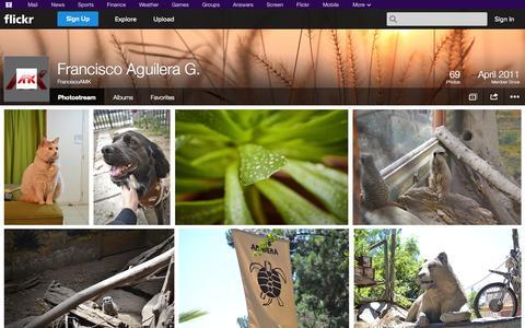 Screenshot of Flickr Page flickr.com - Flickr: FranciscoAMK's Photostream - captured Nov. 2, 2014